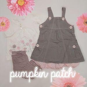 Pumpkin Patch 3 pc matching set 12-18 mo